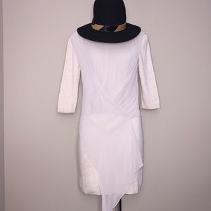 All Saints Kafa Cream Sweater Drape Dress Size L